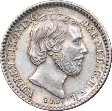 Netherlands 10 Cents  (1849-1890 Willem III)