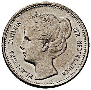 Netherlands 10 Cents  (1898-1901 Wilhelmina)