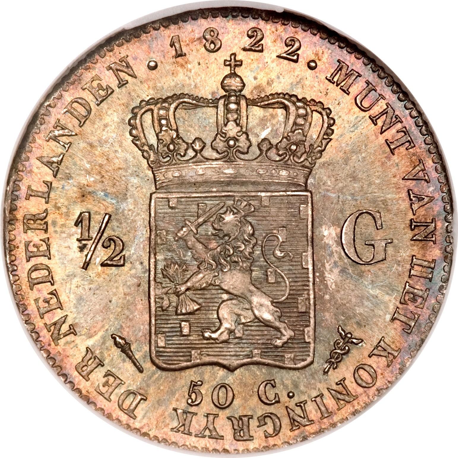 Netherlands ½ Gulden  (1818-1830 Willem I)