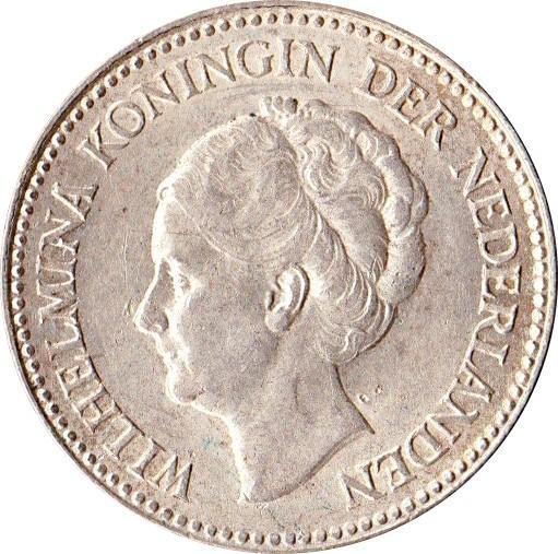 Netherlands ½ Gulden  (1921-1930 Wilhelmina)