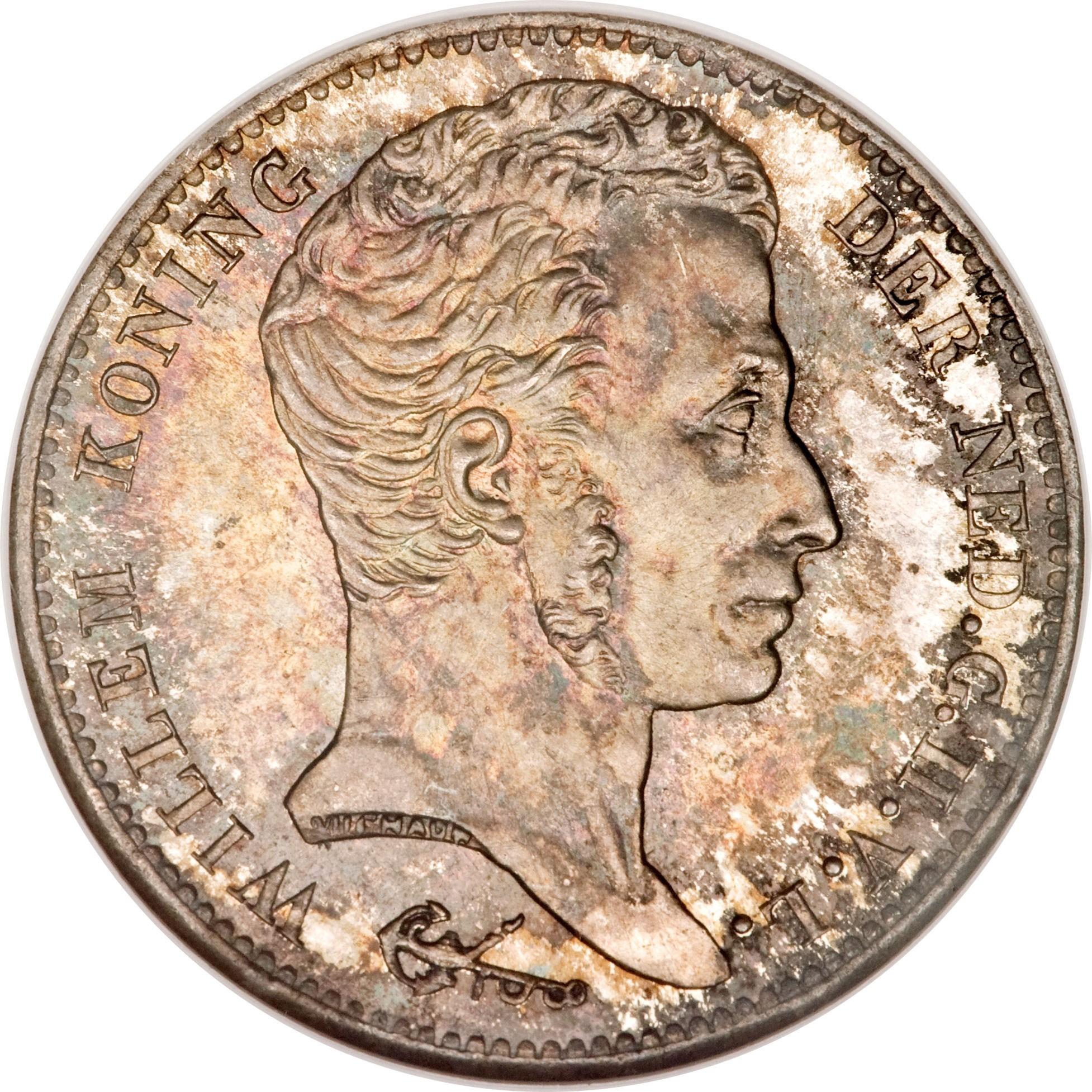 Netherlands 1 Gulden  (1818-1837  Willem I)