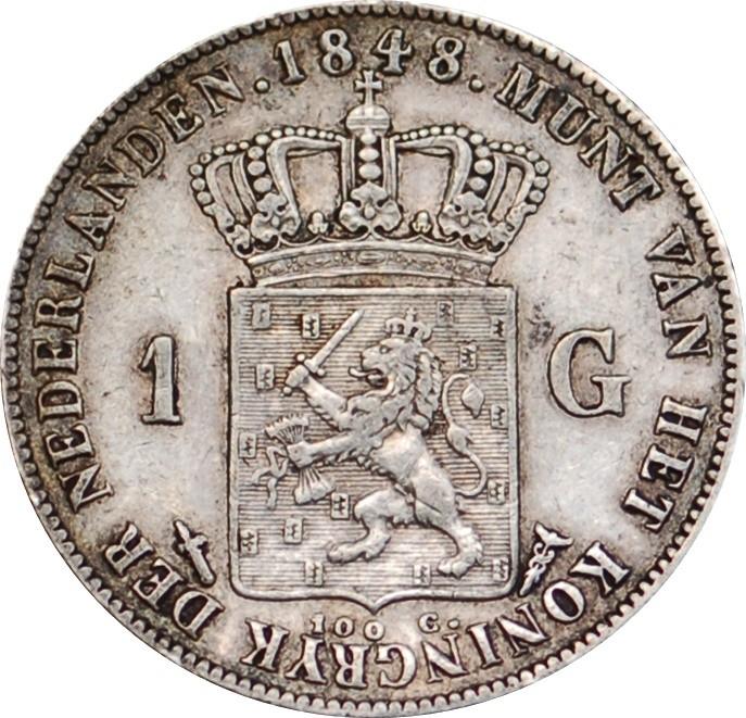 Netherlands 1 Gulden  (1840-1849 Willem II)