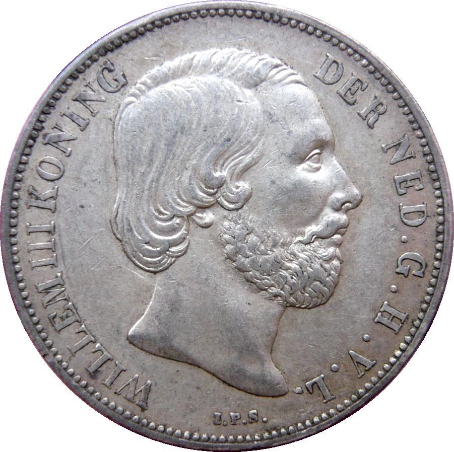 Netherlands 1 Gulden  (1850-1867Willem III)