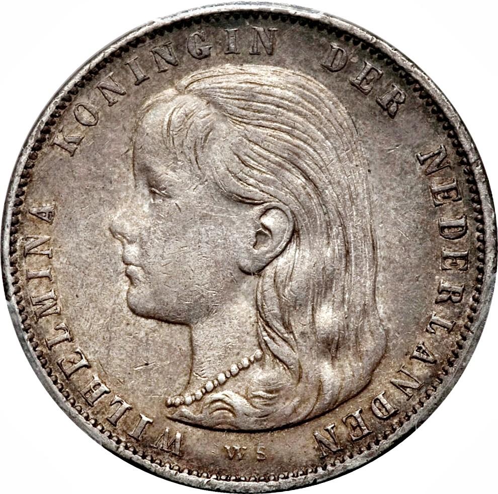 Netherlands 1 Gulden  (1892-1897 Wilhelmina)