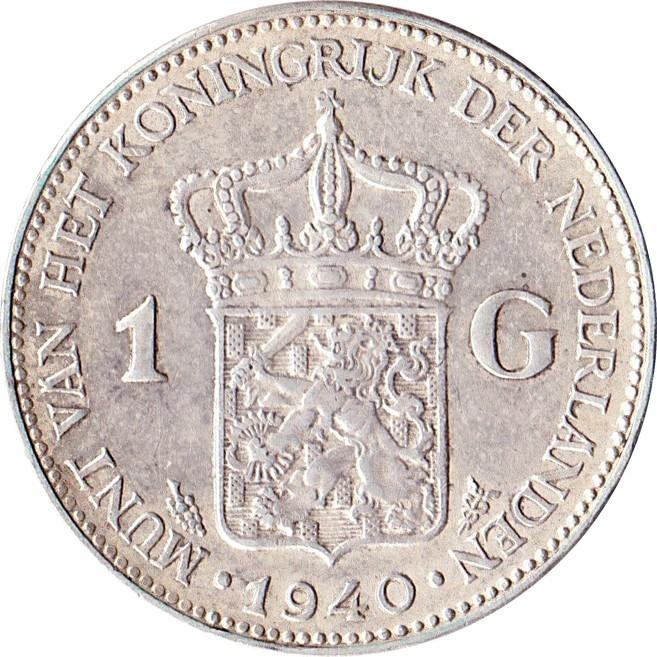 Netherlands 1 Gulden  (1922-1945 Wilhelmina)