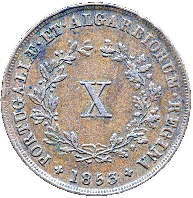 Portugal 10 Réis (1840-1853 Maria II)