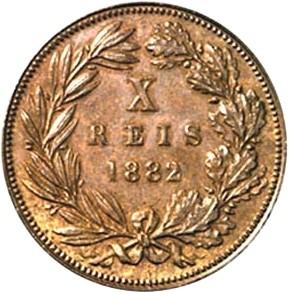 Portugal 10 Réis (1882-1886 Luíz I)