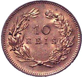 Portugal 10 Réis (1891-1892 Carlos I)