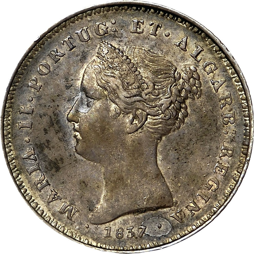Portugal 100 Réis (1836-1843 Maria II)