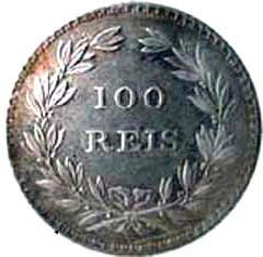 Portugal 100 Réis (1854 Pedro V)