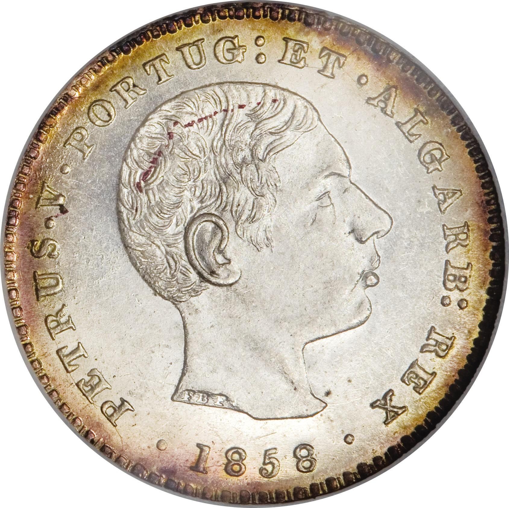 Portugal 100 Réis (1857-1861 Pedro V)