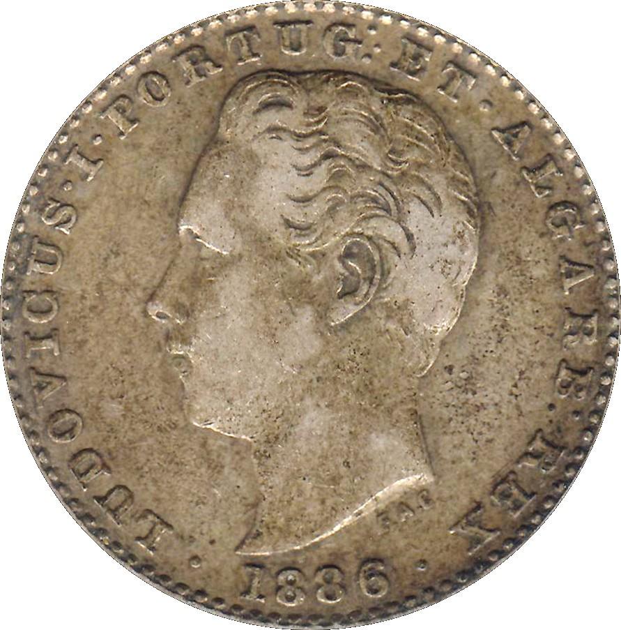 Portugal 100 Réis (1864-1889 Luiz I)