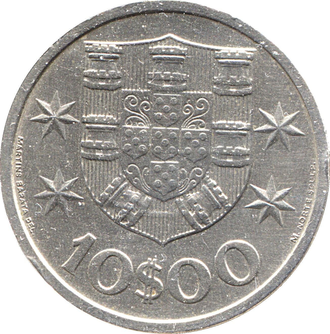 Portugal 10 Escudos (1969-1974)