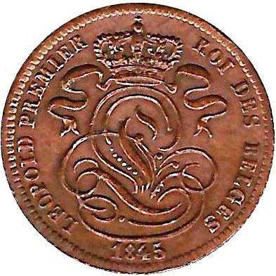 Belgium 1 Centime (1832-1863 Léopold I)