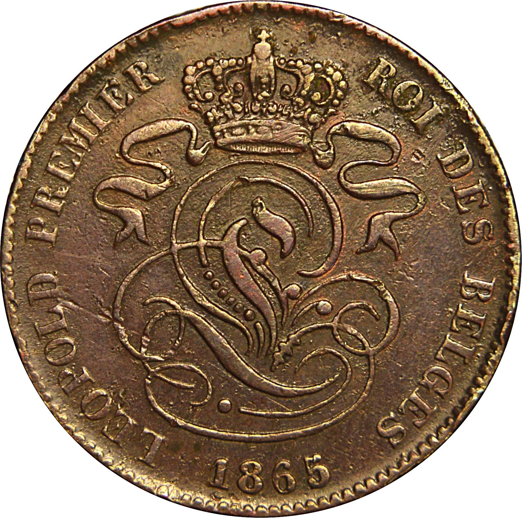Belgium 2 Centimes (1833-1865 Léopold I)