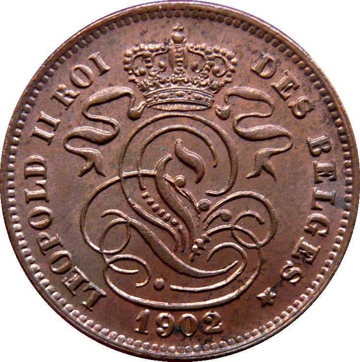 Belgium 2 Centimes (1869-1909 Léopold II-French text)