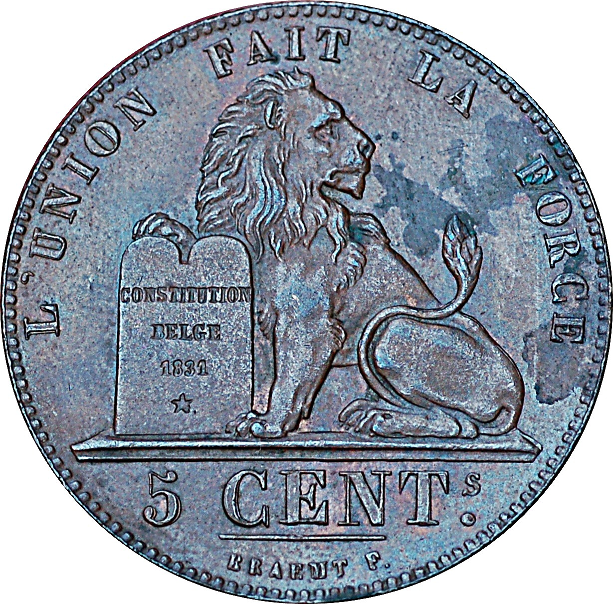 Belgium 5 Centimes (1811-1860 Léopold I)