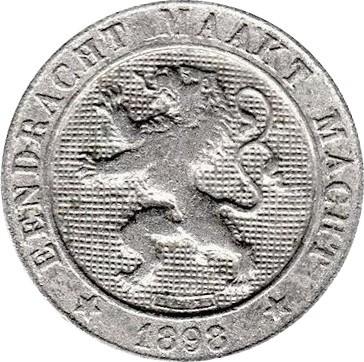 Belgium 5 Centimes (1894-1900 Léopold II-Dutch text)