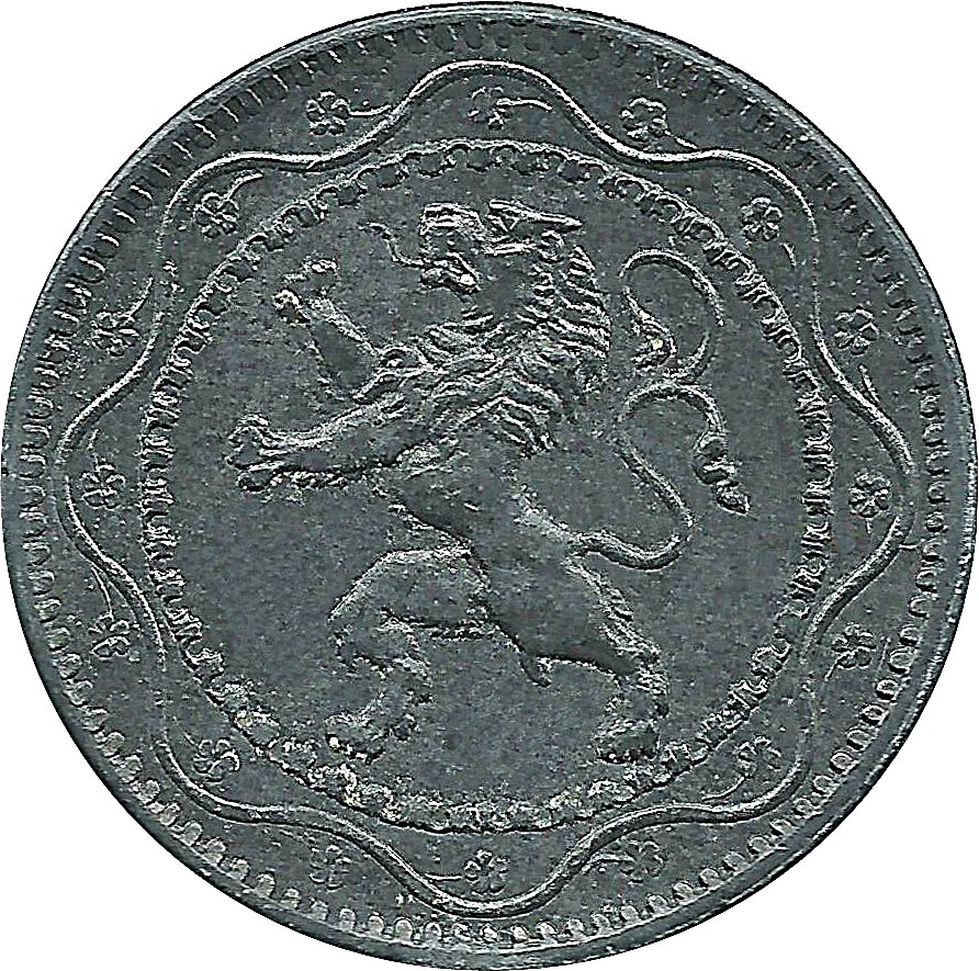 Belgium 5 Centimes (1915-1916 German Occupation Coinage)