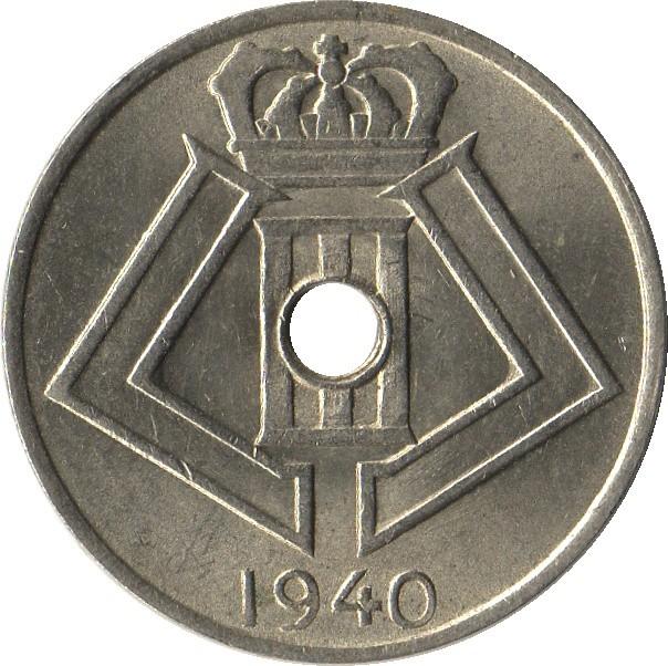 Belgium 5 Centimes (1939-1940 Léopold III)