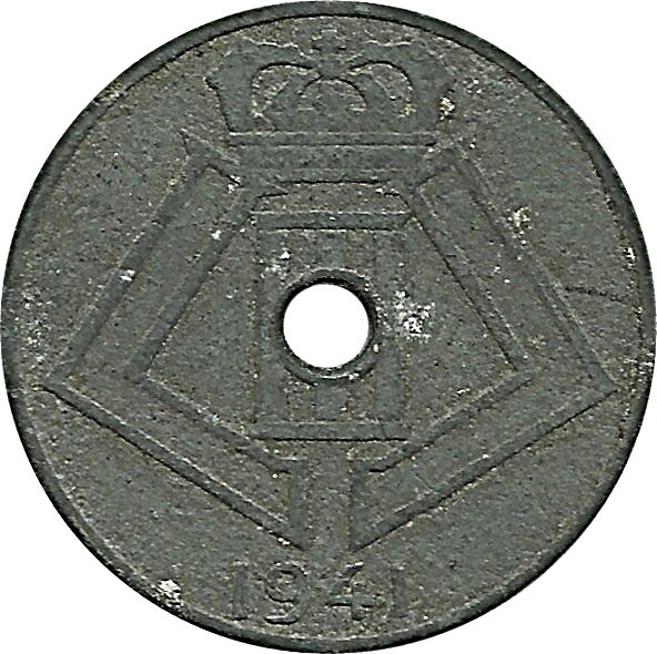 Belgium 5 Centimes (1941-1943 Léopold III)