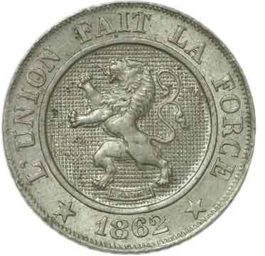 Belgium 10 Centimes (1861-1864 Léopold I)