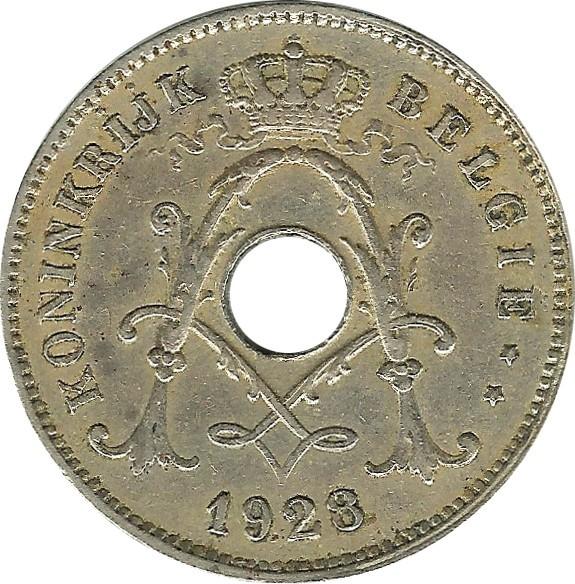 Belgium 10 Centimes (1911-1929 Albert I-Dutch text)