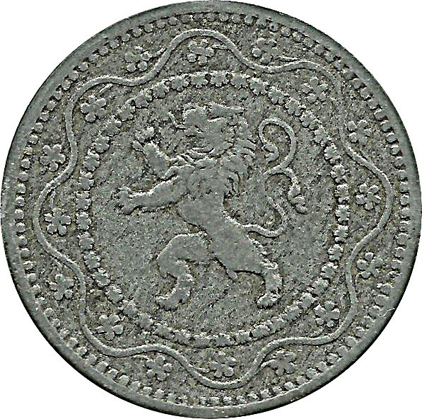Belgium 10 Centimes (1915-1917 German Occupation Coinage)