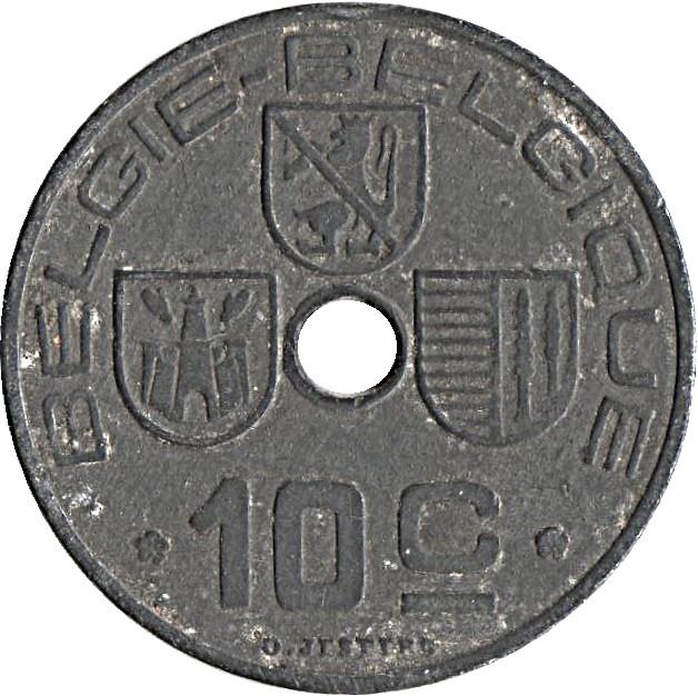 Belgium 10 Centimes (1941-1946 Léopold III)