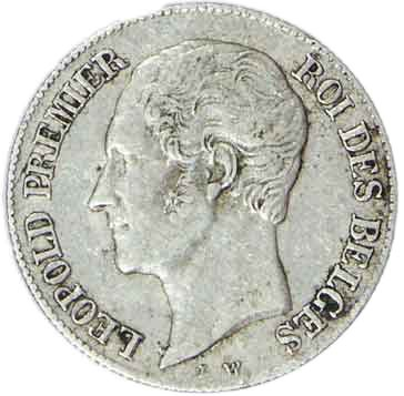 Belgium 20 Centimes (1852-1858 Léopold I)