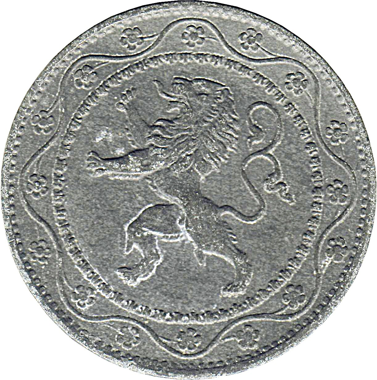 Belgium 25 Centimes (1915-1918 German Occupation Coinage)