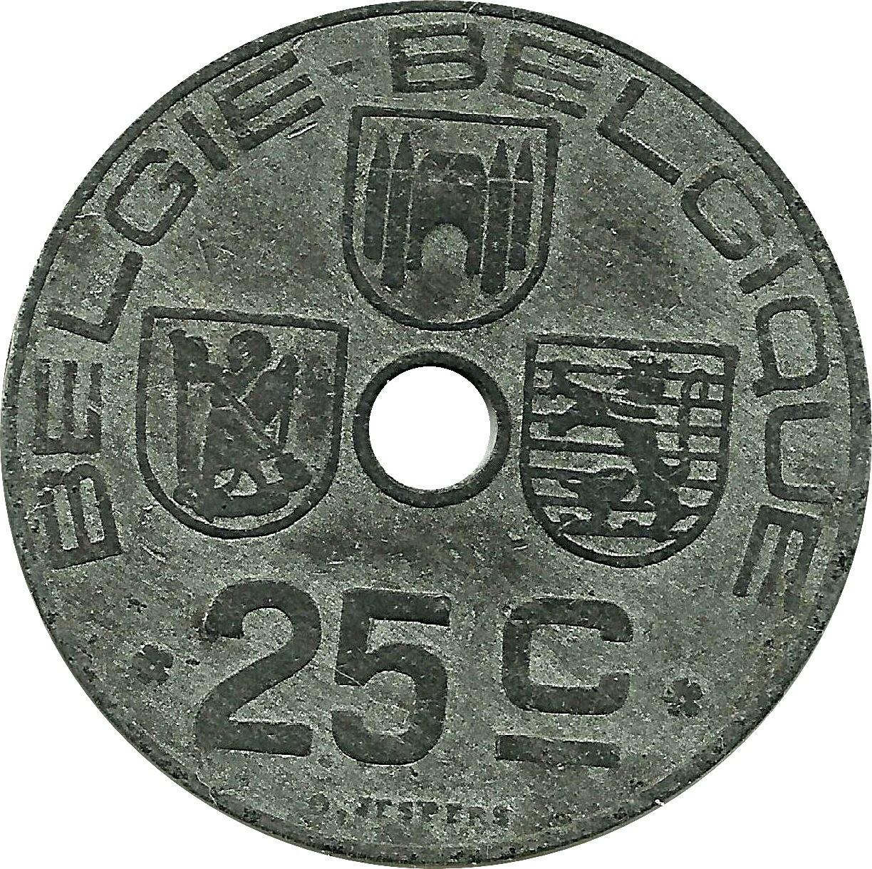 Belgium 25 Centimes (1942-1946 Léopold III)