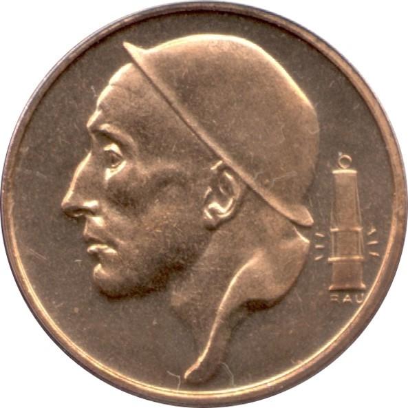 Belgium 50 Centimes (1956-2001 Baudouin I-Dutch text)