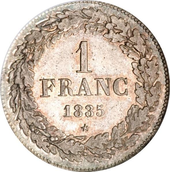 Belgium 1 Franc (1833-1844 Léopold I)