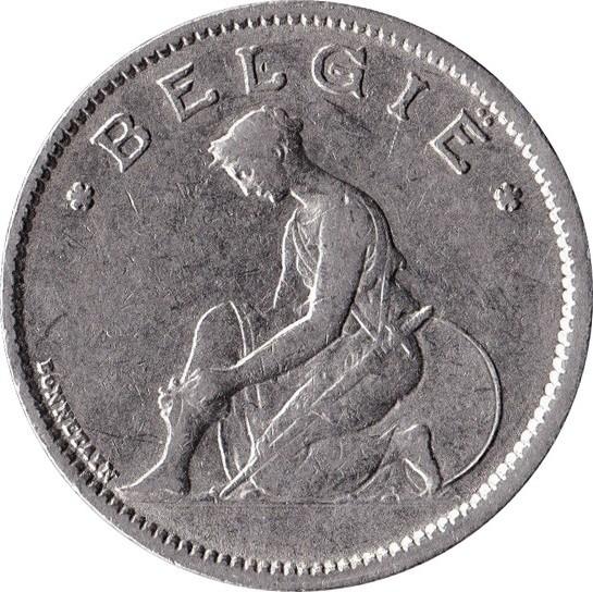 Belgium 1 Franc (1922-1935 Albert I-Dutch text)