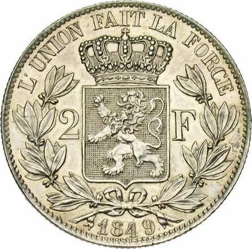 Belgium 2 Francs  (1848-1865 Léopold I)