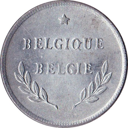 Belgium 2 Francs  (1944 Allied Occupation Coinage)
