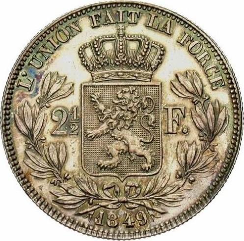 Belgium 2½  Francs  (1848-1865  Léopold I)