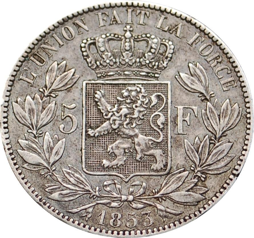 Belgium 5 Francs  (1849-1865 Léopold I)