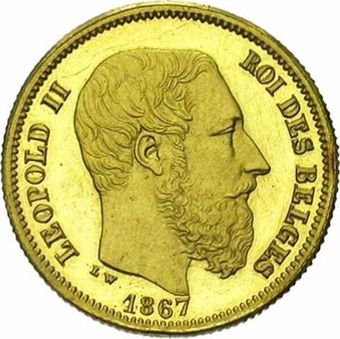 Belgium 10 Francs (1865-1867 Léopold II)