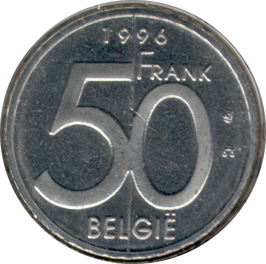 Belgium 50 Francs (1994-2001 Albert II Dutch text)