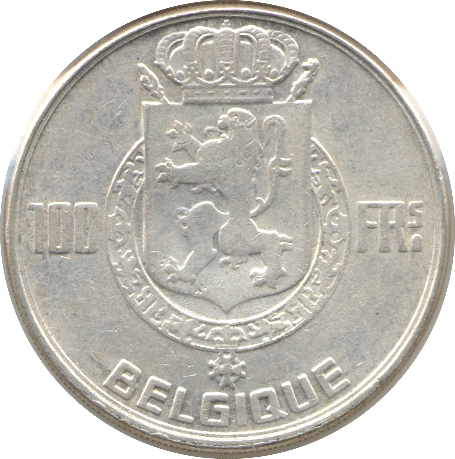 Belgium 100 Francs (1948-1954 Léopold III-French text-Kings