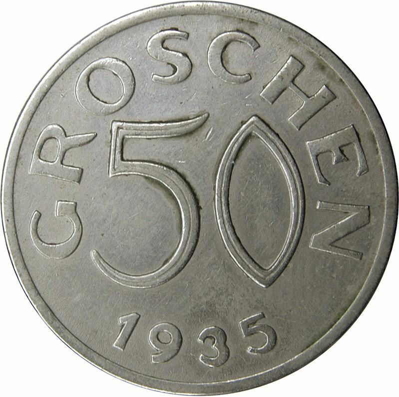 Austria 50 Groschen (1935-1936)