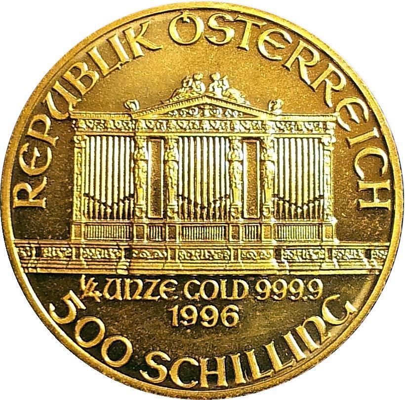 Austria 500 Schilling (1989-2001 Vienna Philharmonic)