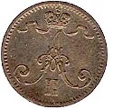 Finland 1 Penni (1864-1876 Aleksandr II)