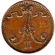 Finland 1 Penni (1881-1894 Aleksandr III)