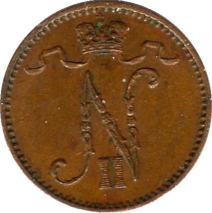 Finland 1 Penni (1895-1916 Nikolai II)