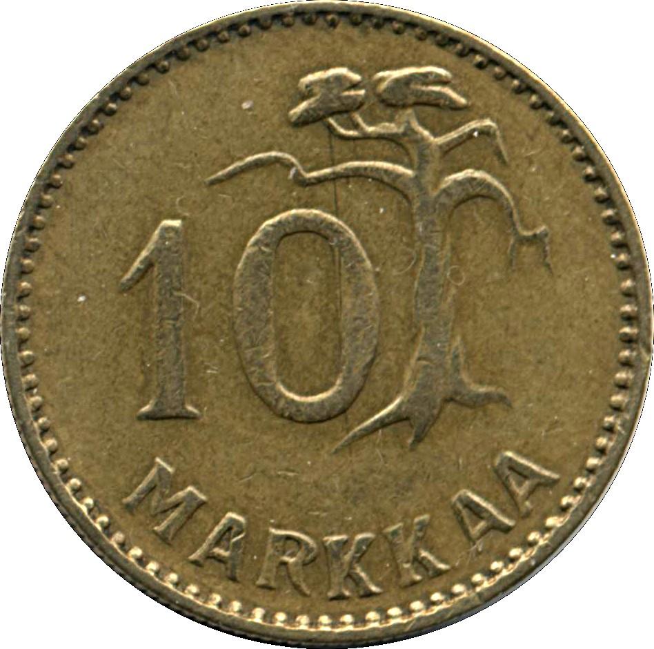 Finland 10 Markkaa (1952-1962)