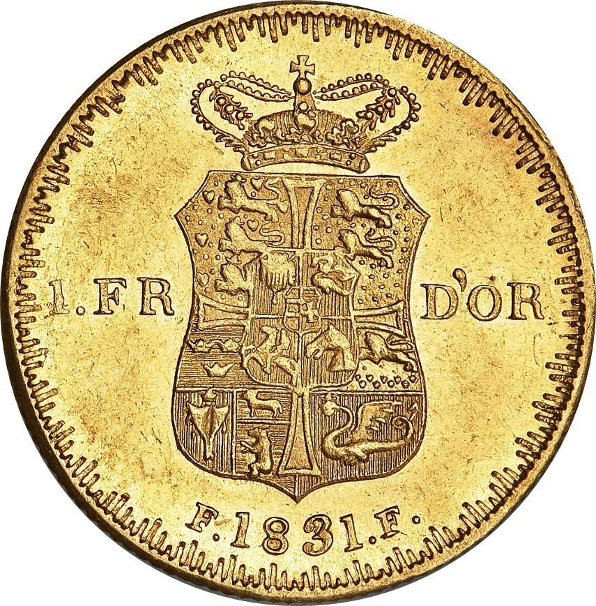 Denmark 1 Frederik d'Or (1829-1838 Frederik VI)