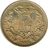 Denmark 1 Skilling Rigsmønt (1856-1863 Frederik VII)